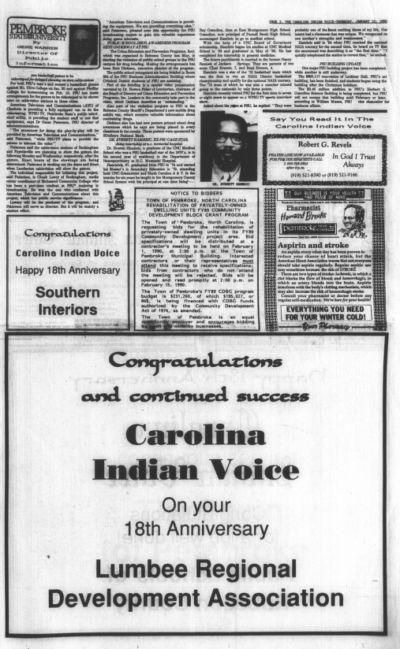The Carolina Indian voice.