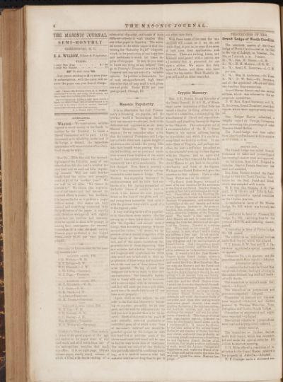 Masonic journal : a Masonic and family weekly.